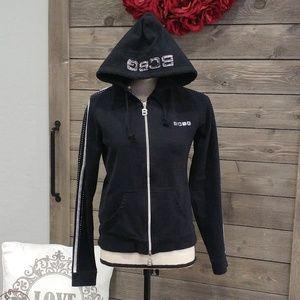 BCBG Black hooded sweatshirt ~~BLING ~~